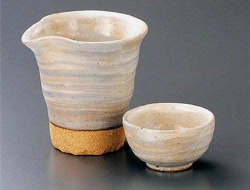 KOBIKI-KATAKUCHI Tohki Japanese Pottery SAKE Set 39inches Set of 5 SAKE Sets Japanese original Porcelain