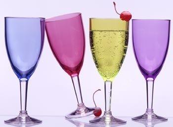 Prodyne Acrylic Green Wine Glass