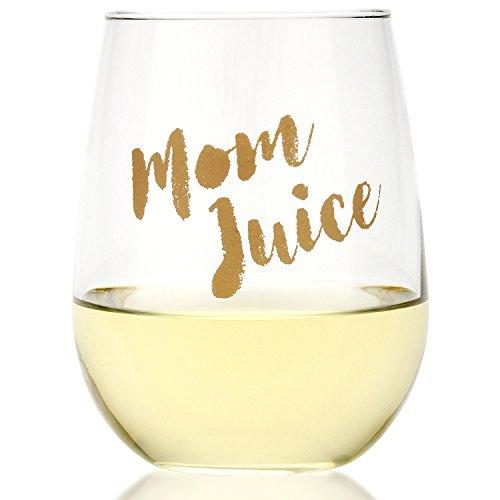 Funny Mom Juice Wine Glass 17oz