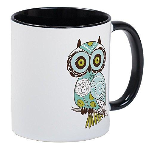 CafePress Teal Green Owl -2 Mugs Unique Coffee Mug Coffee Cup
