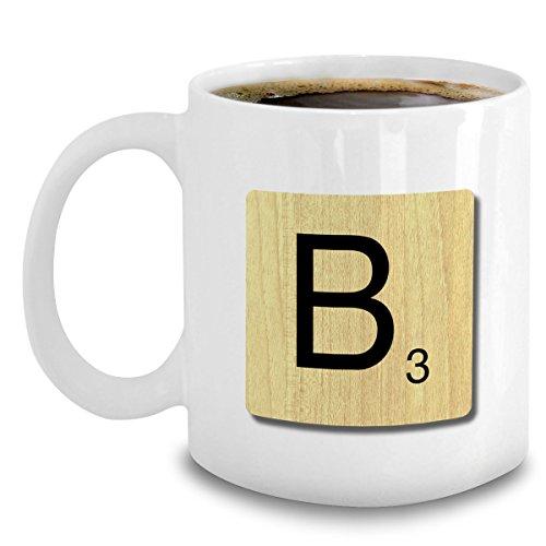 Scrabble Mug - Letter B Alphabet Coffee Mug - Scrabble Ornament Gifts