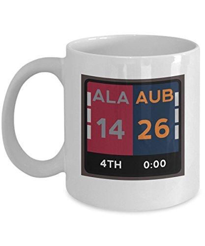 Auburn Alabama Coffee Mug - 11oz White Ceramic Tea Cup Funny Fan Pride Novelty Holiday Christmas Gift Set of 1