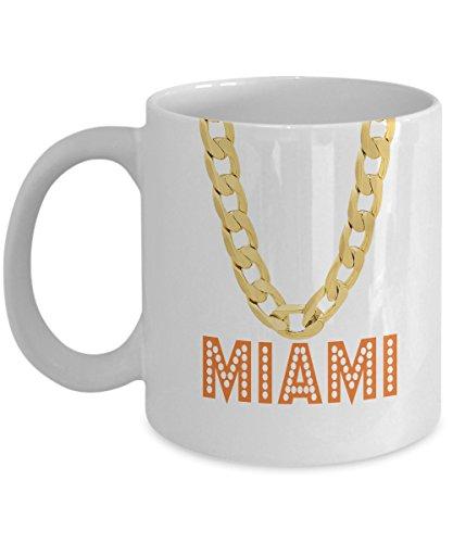 Miami Coffee Mug - 11oz White Ceramic Tea Cup Miami Pride Novelty Holiday Christmas Gift Canes Set of 1