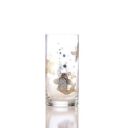 IMPULSE Koi Gold Highball drinking glasses Set of 4