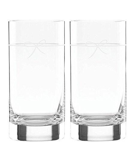 Kate Spade New York Ingram Way 2-Piece Highball Drinking Glasses 16-Ounces