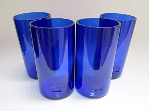 Skyy Vodka Tall Highball Pint Drinking Glasses - 16 0z Handmade Custom Tumblers - Set Of 4