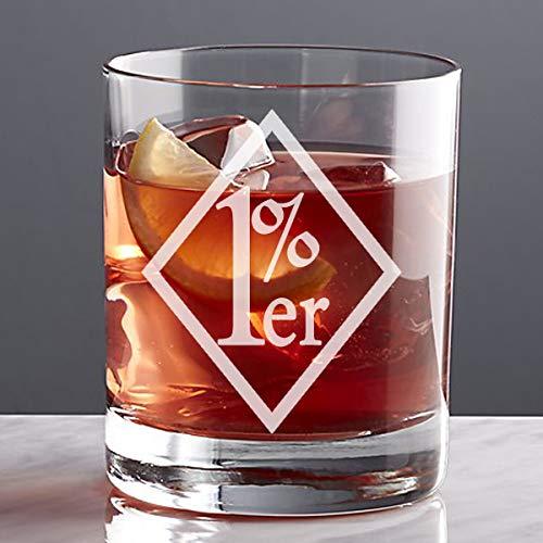 1 er Custom Etched Whiskey Rocks Glass ER-01