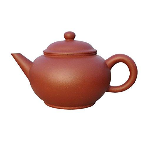Yixing Teapot Ms Zhou Handmade Horizontal Tea PotNature Red Clay180cc