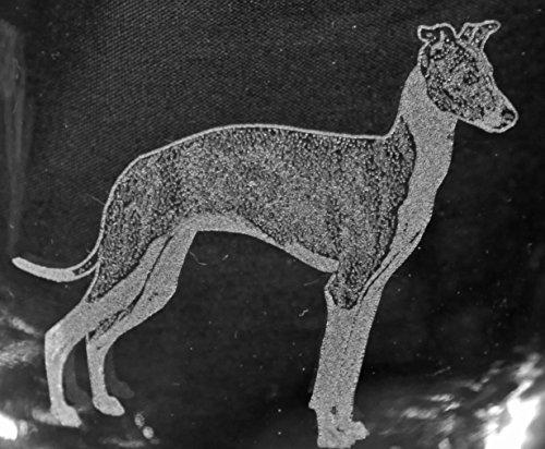 Muddy Creek Reflection Italian Greyhound Dog Laser Etched White Wine Juice Glass Set 2 SWW