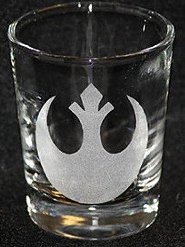 Rebel Star Wars Inspired Logo Shot Glass Laser Engraved