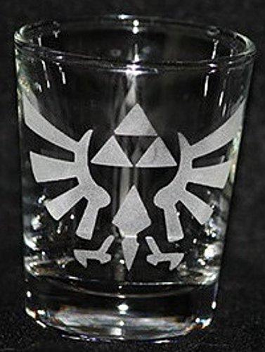 Zelda Video Game Inspired Logo Shot Glass Laser Engraved