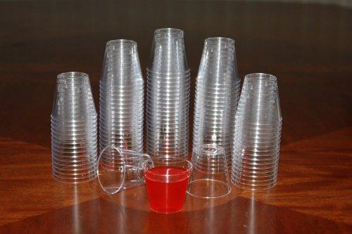 1 ounce Clear Plastic Shot Glasses - Box of 250 1 oz