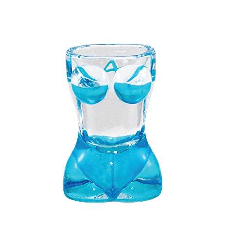 Shot Glass BIKINI SHAPE Sexy Bikini Bachelor Party Novelty Shot Glass Blue