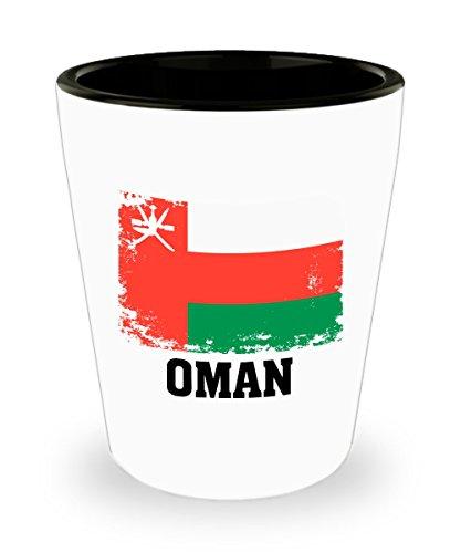 Oman Flag Shot Glass Funny Gifts - Oman People Pride Flag Vintage Soccer Football Team Hometown Travel Oman Flag Ceramic Cup