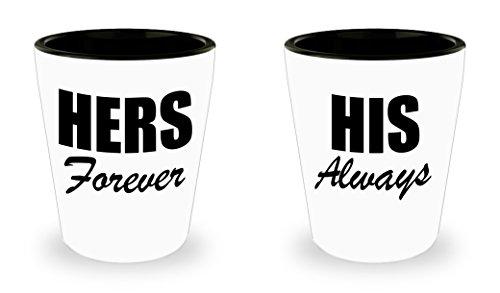Couple Shotglass Romantic Matching Gift Set Mr Mrs  For Boyfriend Girlfriend Husband Wife Couples Fiancee Dating Engagement Theme Newly Engaged of BridePresent