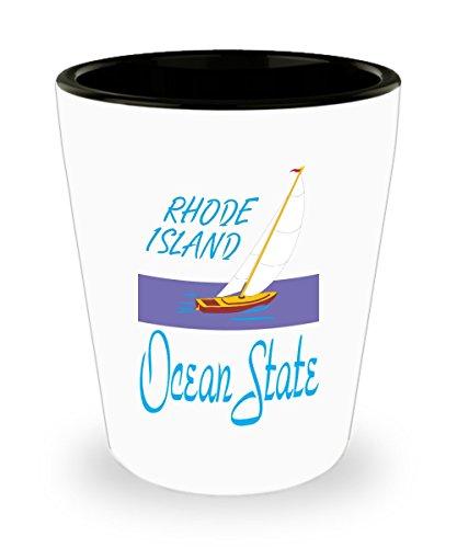 Rhode Island Ocean State Shot Glass Gift