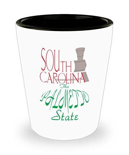 South Carolina Palmetto State Shot Glass Gift