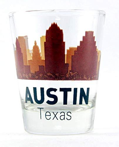 Austin Texas Sunset Skyline Shot Glass