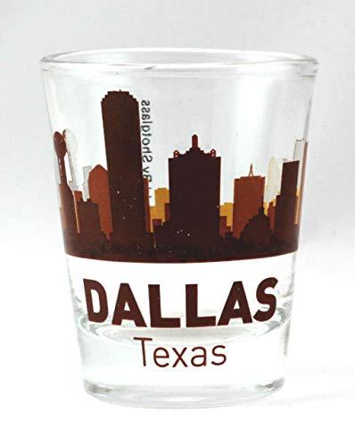 Dallas Texas Sunset Skyline Shot Glass