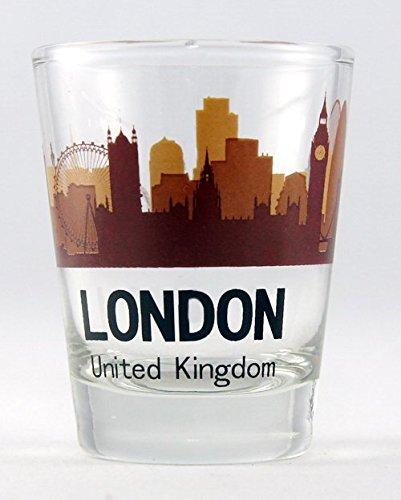 London England Sunset Skyline Shot Glass