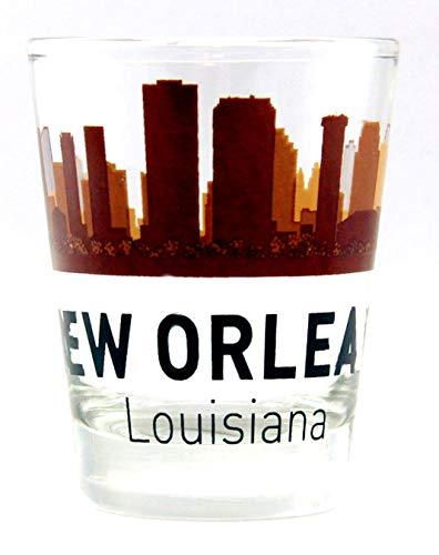 New Orleans Louisiana Sunset Skyline Shot Glass