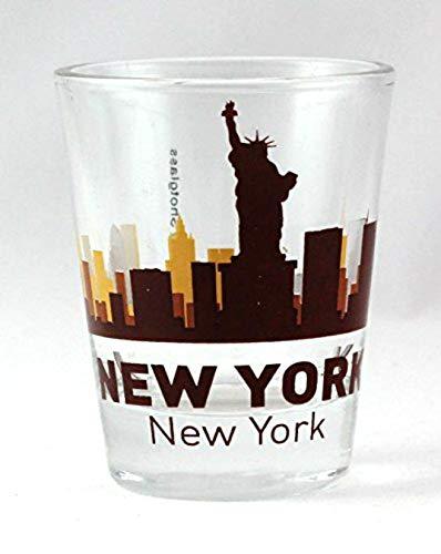 New York City Sunset Skyline Shot Glass