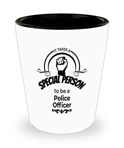 Police Officer Gifts - Police Officer SpiritsLiquor Shotglass Drinking Glass 15 oz Ceramic Shot Glass For Professionals