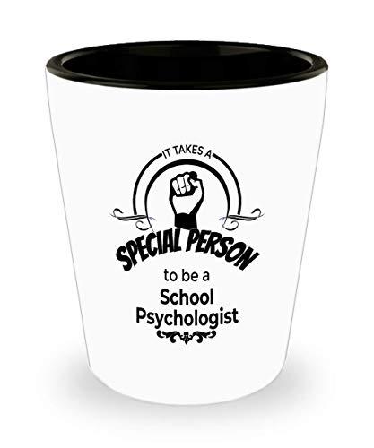 School Psychologist Gifts - School Psychologist SpiritsLiquor Shotglass Drinking Glass 15 oz Ceramic Shot Glass For Professionals