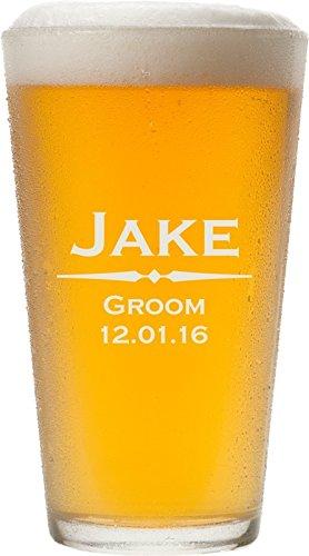 ANY TEXT Custom Engraved Pint Glasses for Beer 16 oz - PG01
