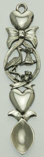 Pewter Lovespoon, Christening, Bow, Stork, Teddy Bear, Heart 16cm (117)