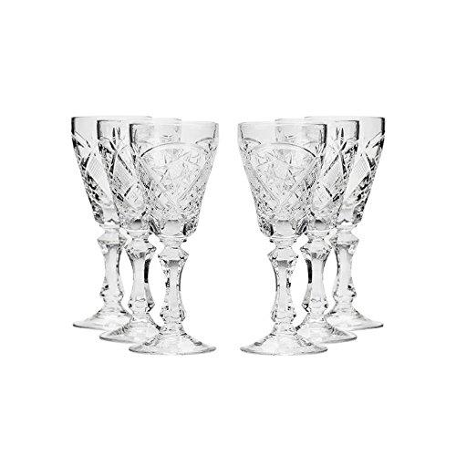 Set of 6 Neman Glassworks 2-Oz Hand Made Vintage Russian Crystal Glasses Liquor Glasses Old-fashioned Glassware
