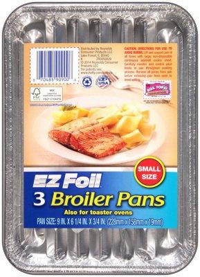 3PK 9x625 Broiler Pan small Disposable Broiler Pan
