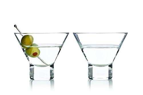 Raye Stemless Martini Glasses by Viski - 2 pack 75 oz