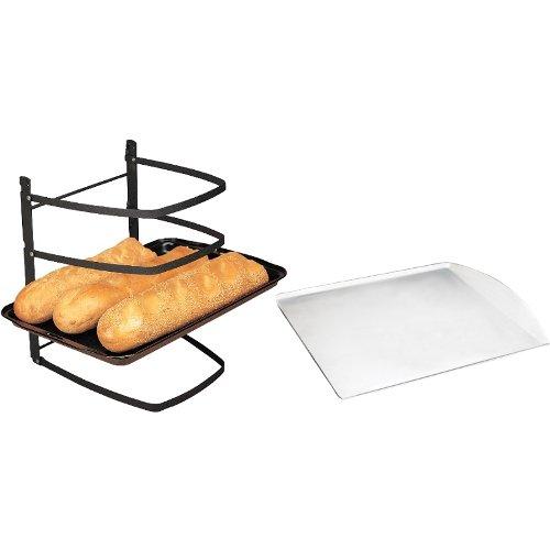 Linden Sweden Jonas Collapsible 4 Tier Cooling Rack with Aluminum Cookie Sheet 13 x 14 Inch