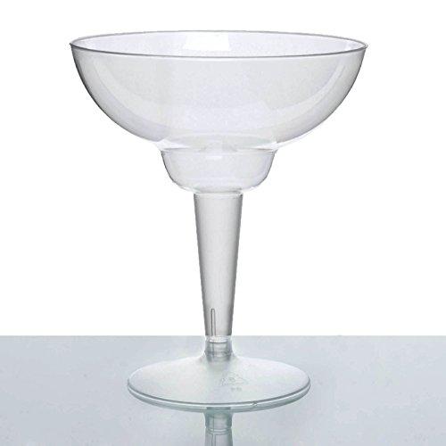 BalsaCircle 30 pcs 12 oz Clear Plastic Margarita Glasses - Disposable Wedding Party Catering Tableware