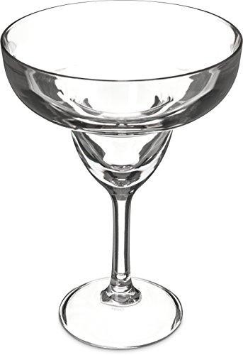 Carlisle 565207 Shatter-Resistant Plastic Margarita Glass 16 oz Clear Pack of 24