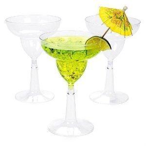 Clear Plastic Margarita Glasses 1 dz