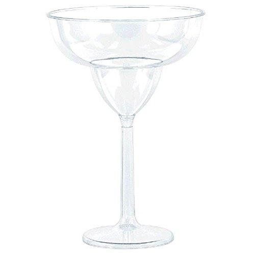 Large Clear Plastic Margarita Glass - 6 Margarita Glasses