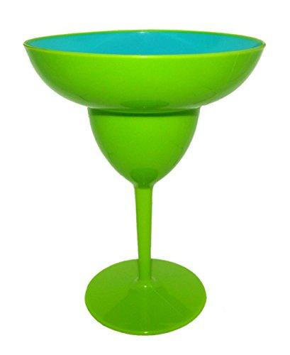 Plastic Giant Margarita Glass 65 x 85 Inches Green