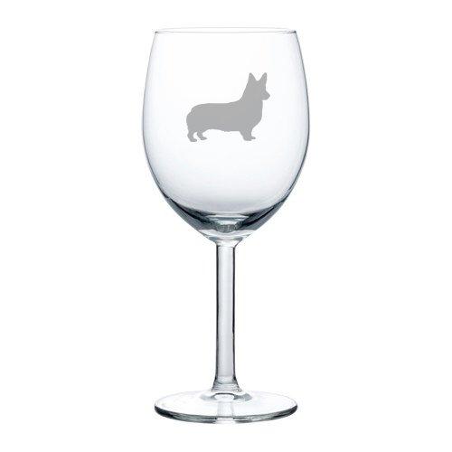 10 oz Wine Glass Corgi