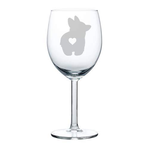 Wine Glass Goblet Corgi Butt 10 oz
