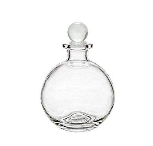 Nakpunar Spherical Clear Glass Bottle with Glass Bottle Stopper