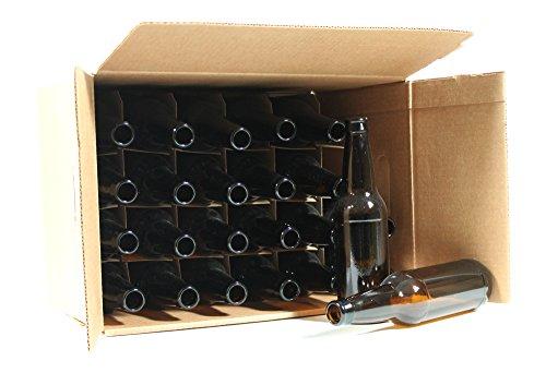 Mr Beer 24 Count Amber Glass Beer Bottles 12 oz