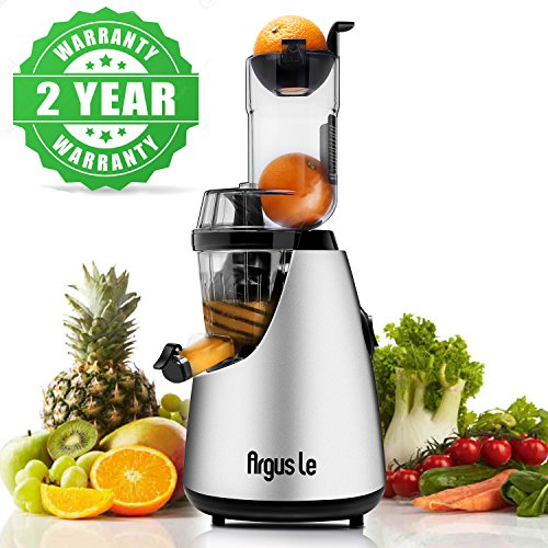 Argus Le Cold Press Juicer 3 Big Mouth Whole Slow Masticating Juicer Easy Cleaning Slow Juicer 75mm Wide Chute Vertical Juicer Machine