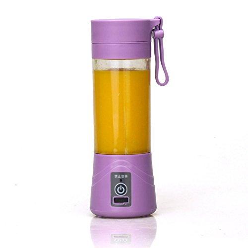 ์์Nut Shop 380ml USB Electric Fruit Juicer Handheld Smoothie Maker Blender Bottle Juice Cup purple