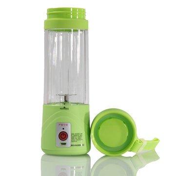 KINGSUNG 380ml USB Electric Fruit Juicer Handheld Smoothie Maker Blender Rechargeable Fresh Juicer Portable Electrical Smoothie Maker Bottle Cup