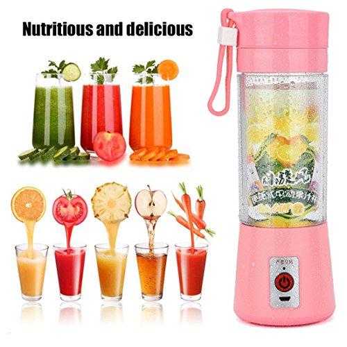 LUCA Portable USB Electric Fruit Juicer Smoothie Maker Blender Bottle Juice Shaker Pkin