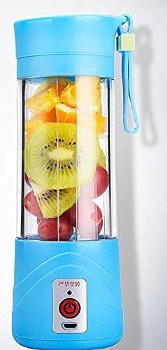 MD Group Electric Fruit Juicer Handheld Blue Portable Smoothie Maker Blender Rechargeable Fresh Juicer Bottle Cup