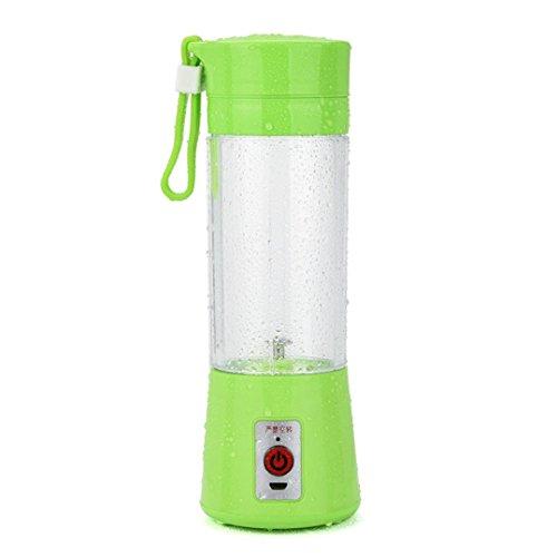 NewKelly Portable USB Electric Fruit Juicer Smoothie Maker Blender Bottle Juice Shaker Green