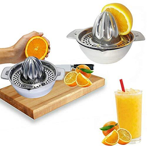 ACE NHT - Manual Juicers - Stainless Steel Citrus Juicer Strainer Hand Squeezer Press Orange Fruit - Manual Best Clean Juicers Easy Sellers